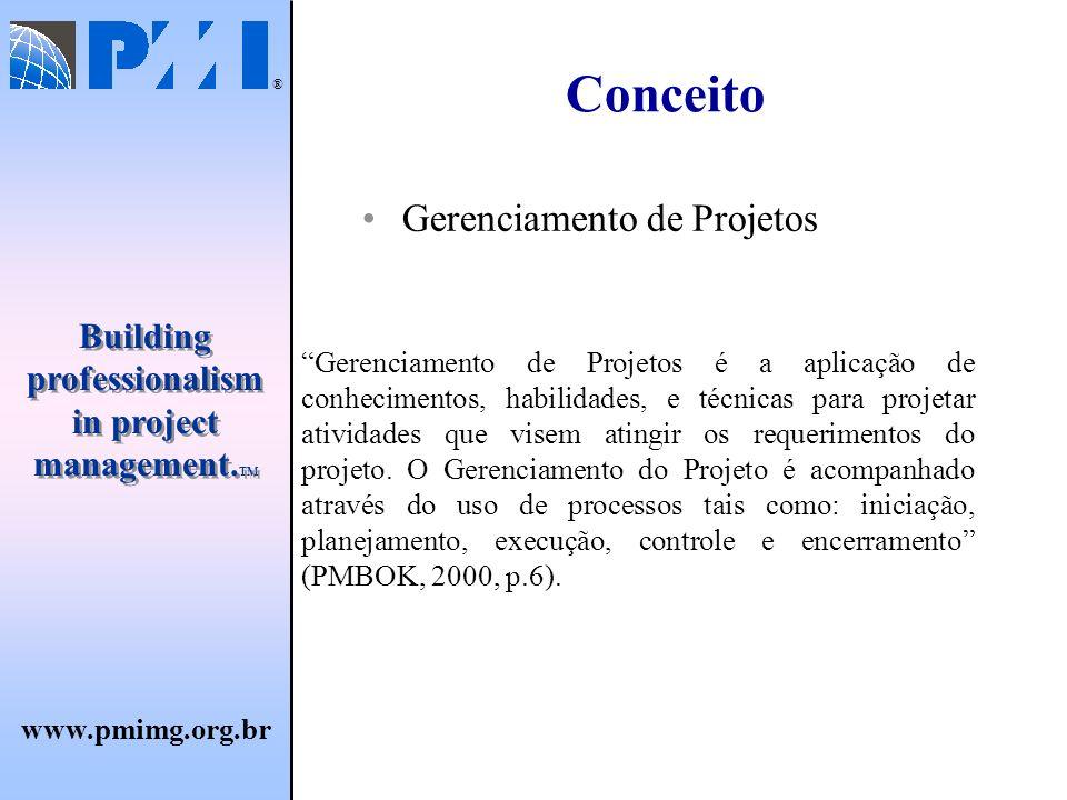 Conceito Gerenciamento de Projetos