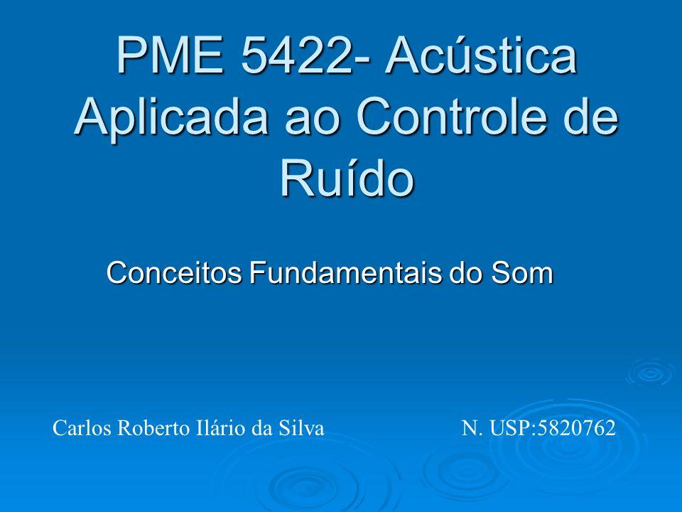 PME 5422- Acústica Aplicada ao Controle de Ruído