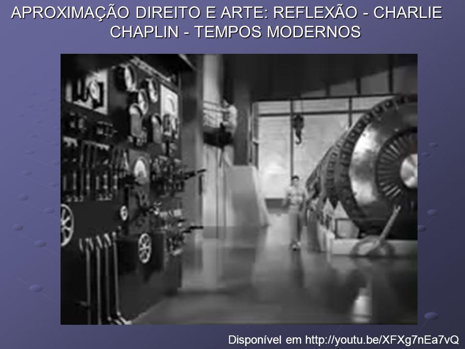 APROXIMAÇÃO DIREITO E ARTE: REFLEXÃO - CHARLIE CHAPLIN - TEMPOS MODERNOS