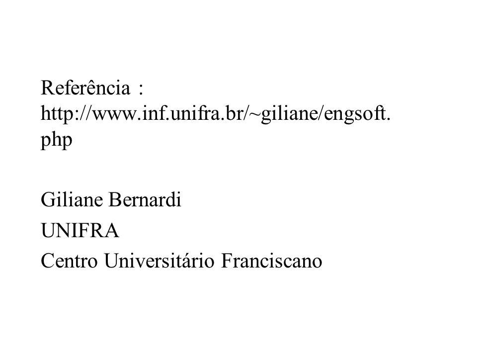 Referência : http://www.inf.unifra.br/~giliane/engsoft.php