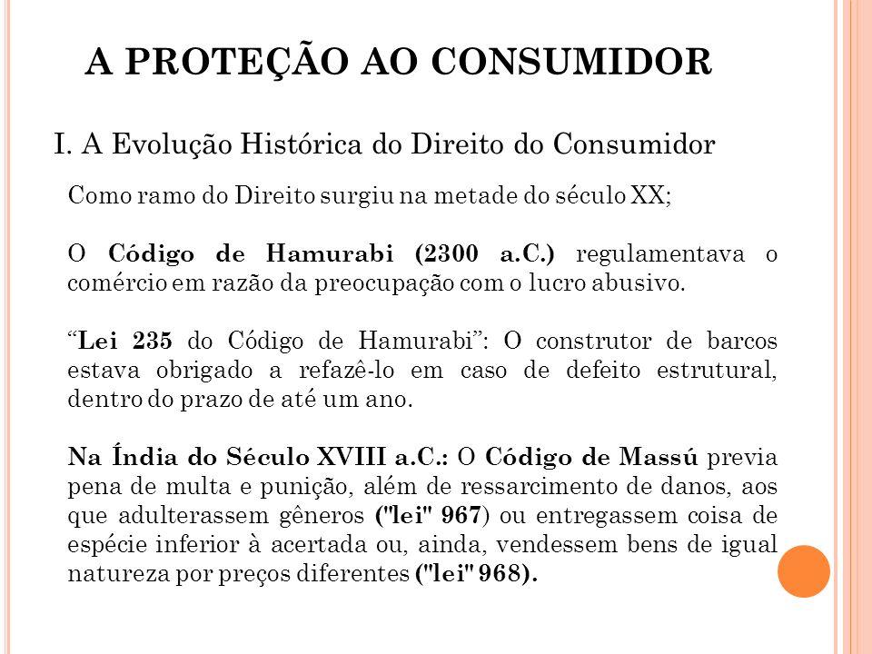 A PROTEÇÃO AO CONSUMIDOR