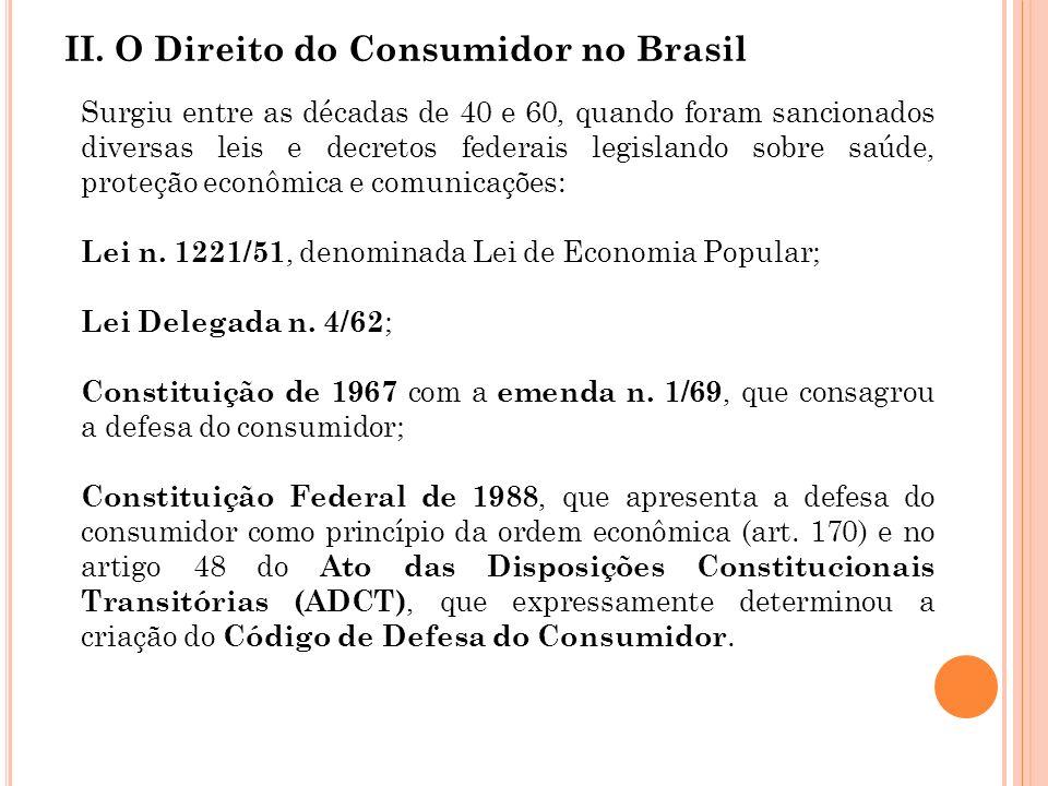 II. O Direito do Consumidor no Brasil