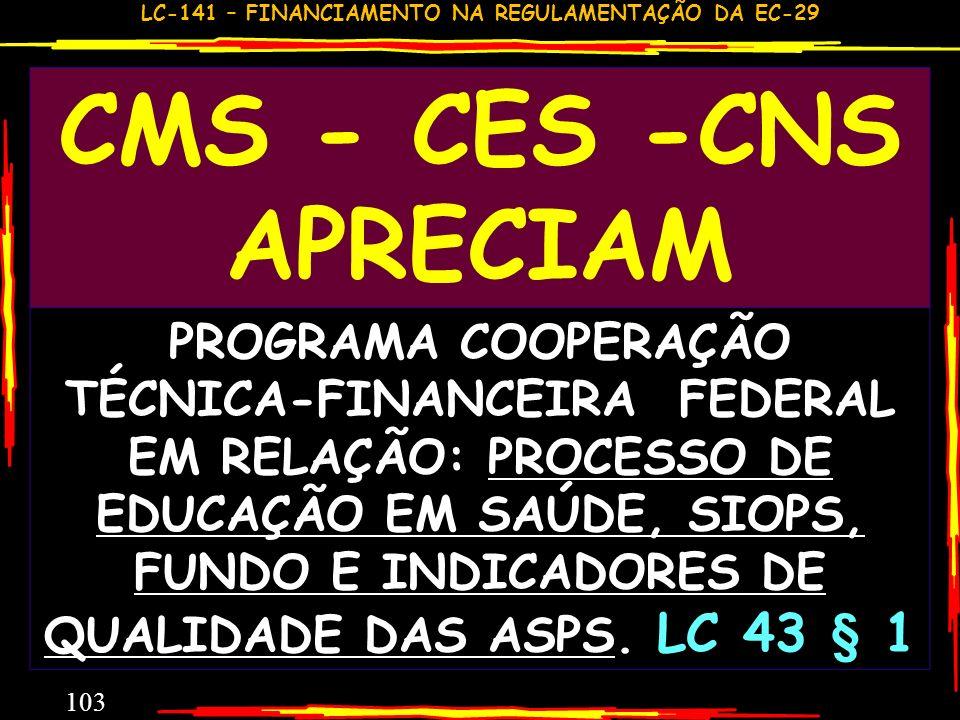 CMS - CES -CNS APRECIAM