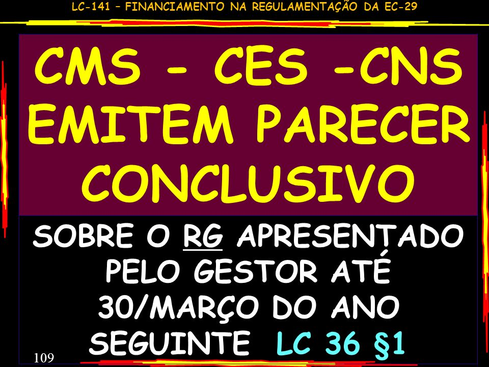 CMS - CES -CNS EMITEM PARECER