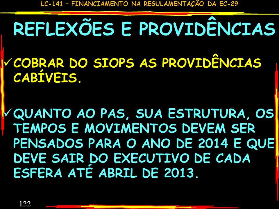 COBRAR DO SIOPS AS PROVIDÊNCIAS CABÍVEIS.