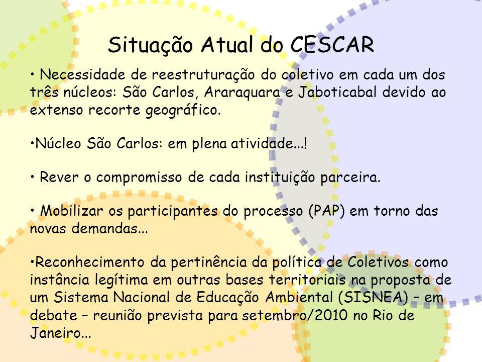 Situação Atual do CESCAR