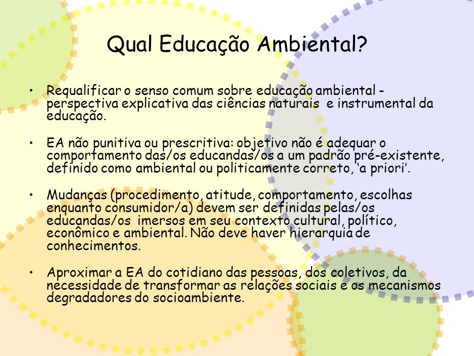 Qual Educação Ambiental