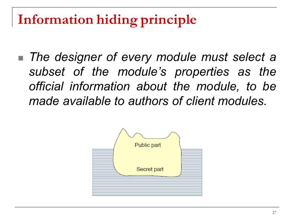 Information hiding principle