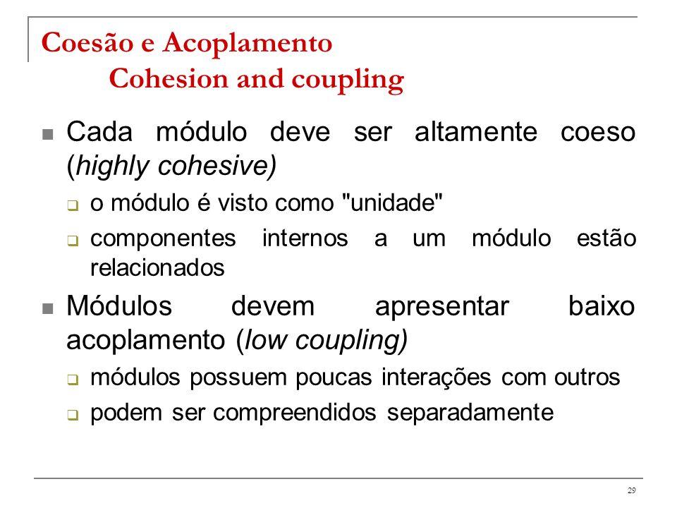 Coesão e Acoplamento Cohesion and coupling