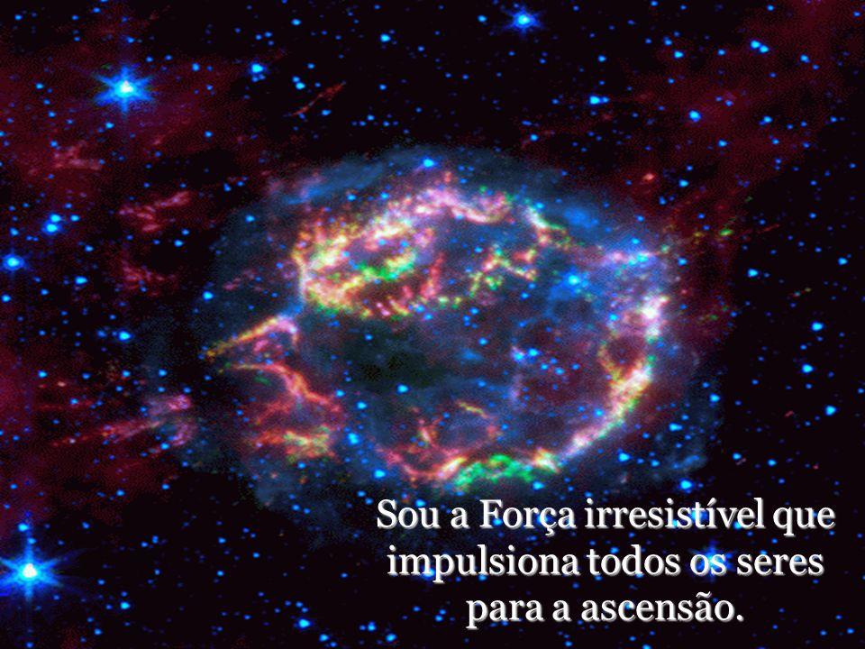 Sou a Força irresistível que impulsiona todos os seres para a ascensão.