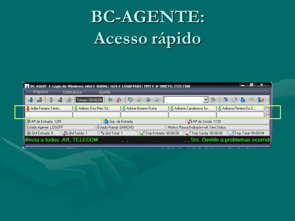 BC-AGENTE: Acesso rápido