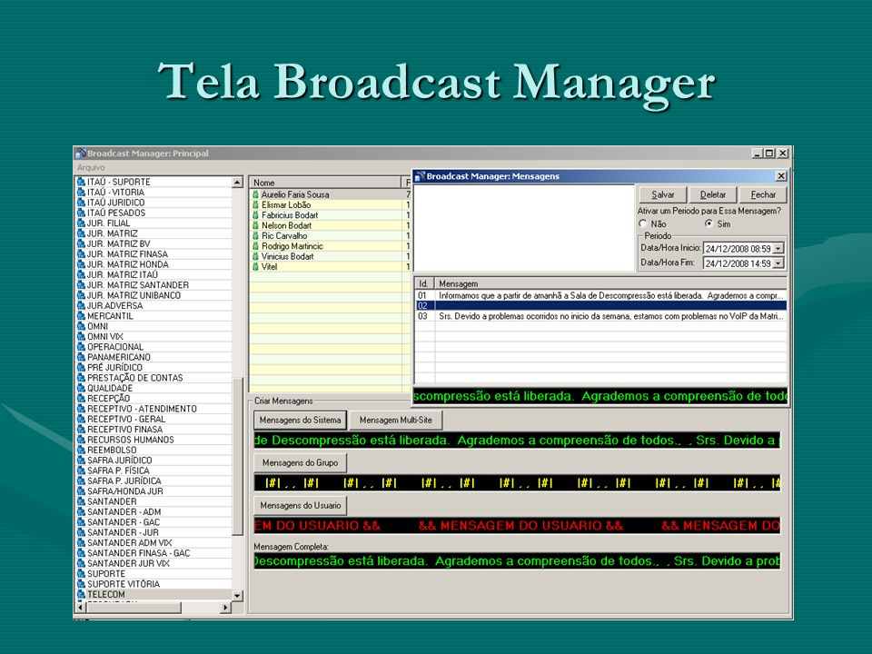 Tela Broadcast Manager