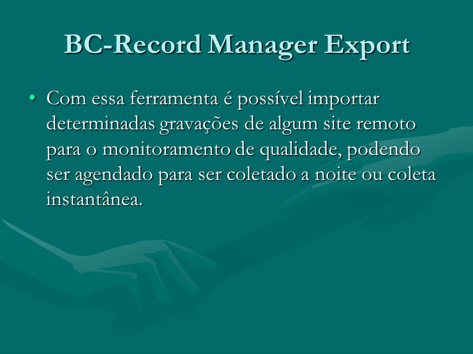 BC-Record Manager Export