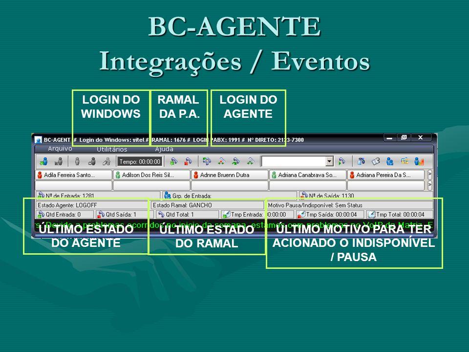 BC-AGENTE Integrações / Eventos