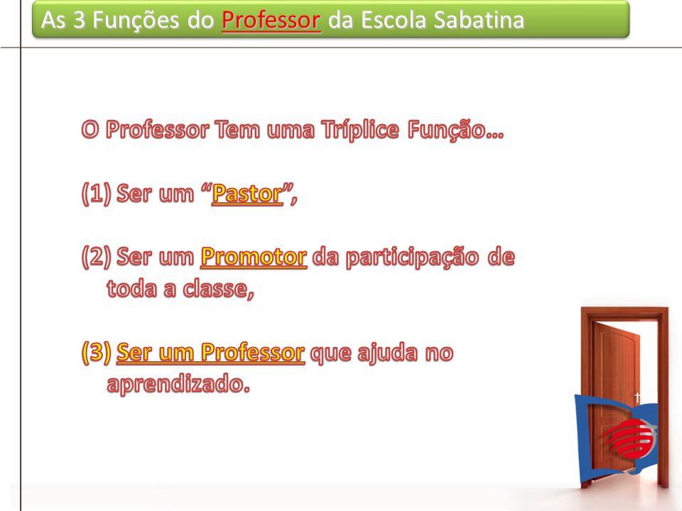 As 3 Funções do Professor da Escola Sabatina