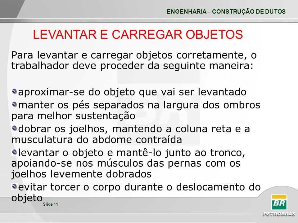LEVANTAR E CARREGAR OBJETOS