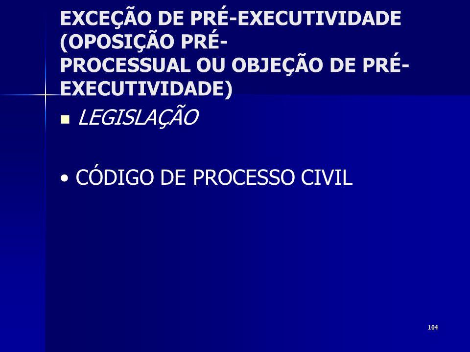 • CÓDIGO DE PROCESSO CIVIL