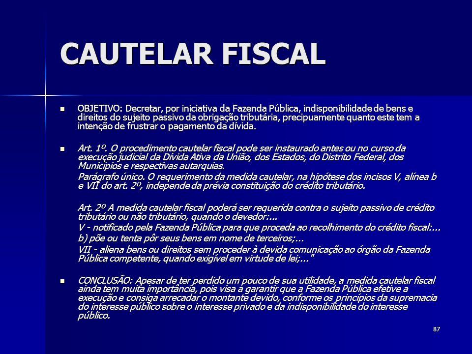 CAUTELAR FISCAL