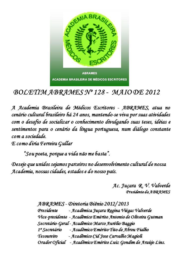 BOLETIM ABRAMES Nº 128 - MAIO DE 2012