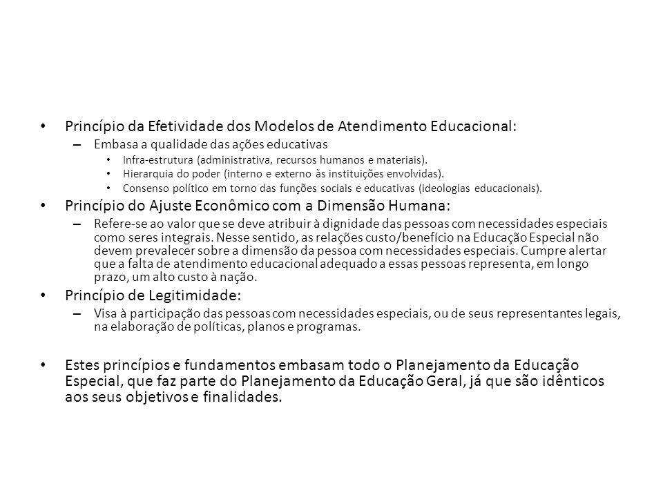 Princípio da Efetividade dos Modelos de Atendimento Educacional: