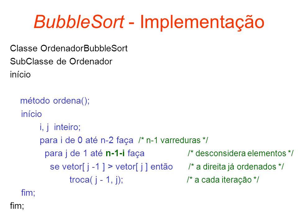 BubbleSort - Implementação
