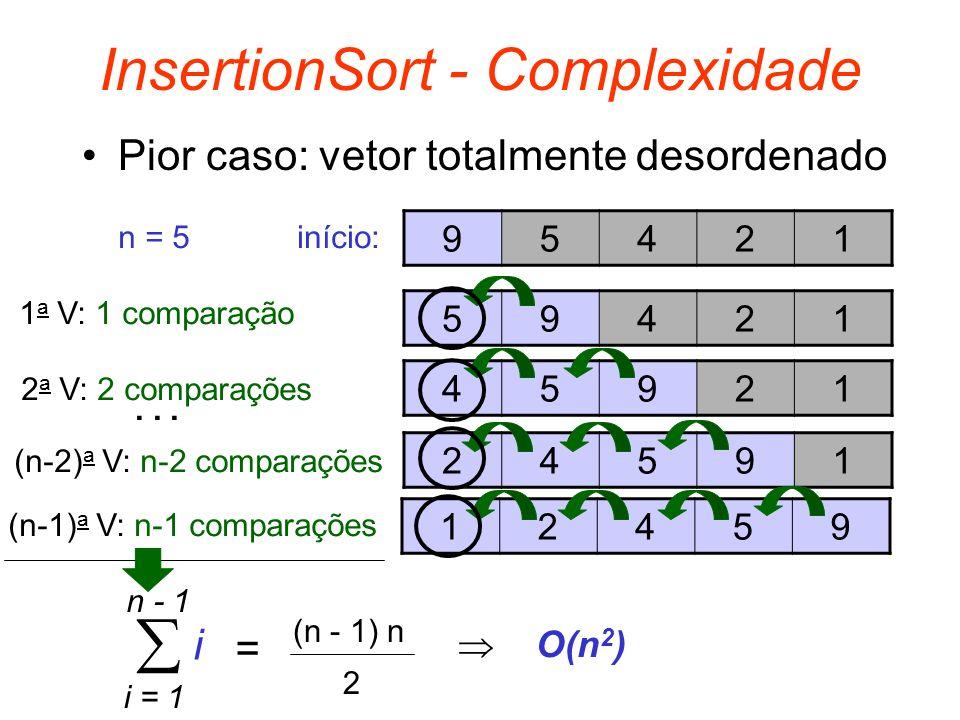 InsertionSort - Complexidade