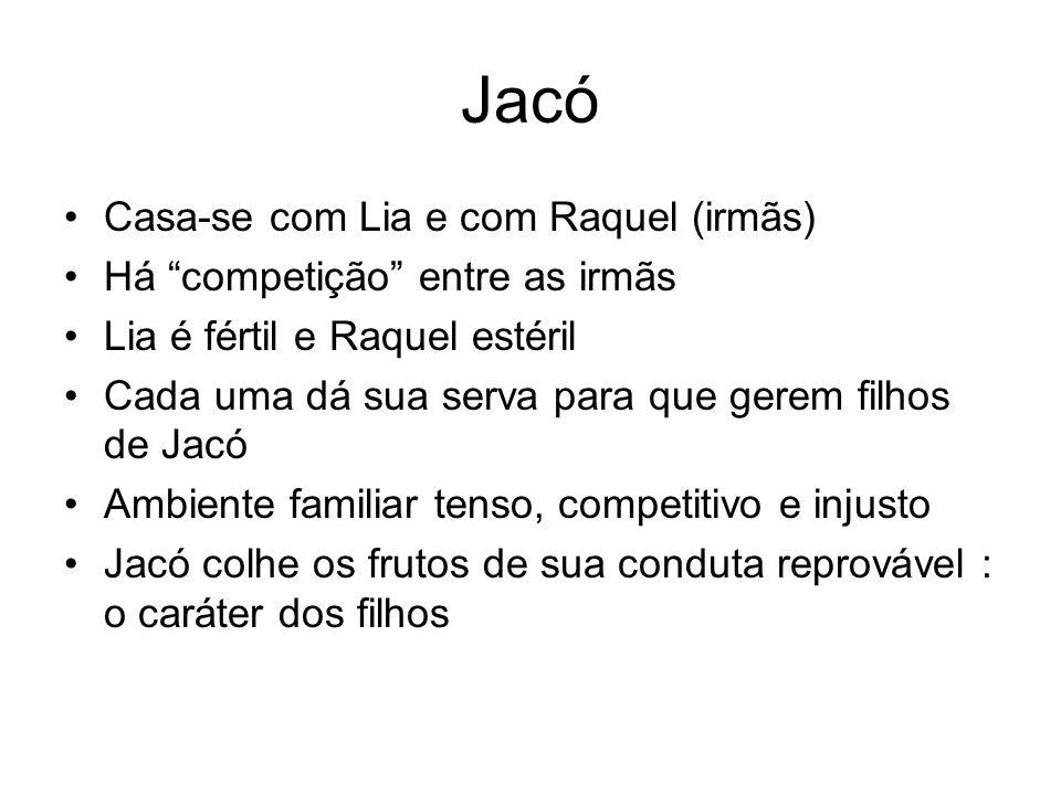 Jacó Casa-se com Lia e com Raquel (irmãs)