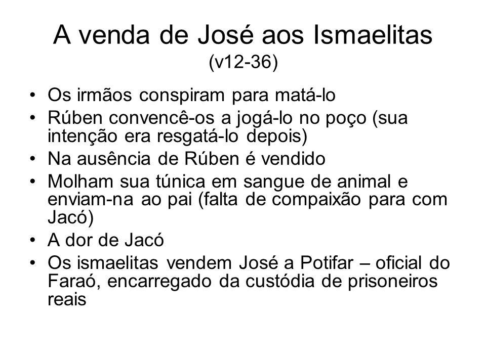 A venda de José aos Ismaelitas (v12-36)