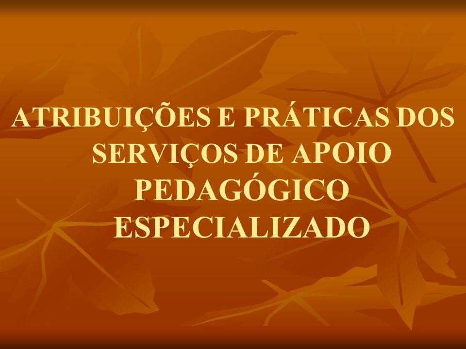 ATRIBUIÇÕES E PRÁTICAS DOS SERVIÇOS DE APOIO PEDAGÓGICO ESPECIALIZADO