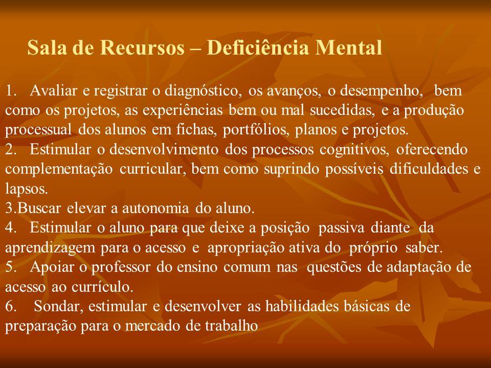Sala de Recursos – Deficiência Mental 1