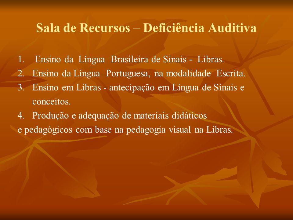 Sala de Recursos – Deficiência Auditiva