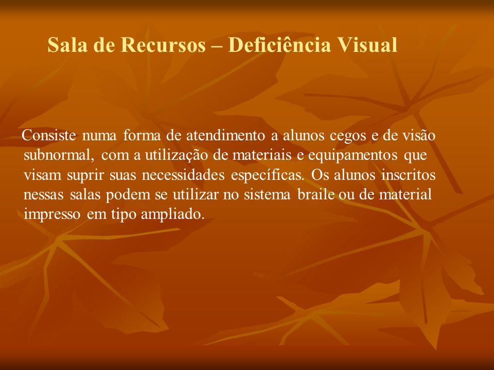 Sala de Recursos – Deficiência Visual