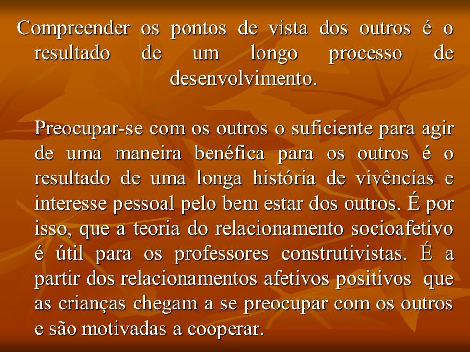 Compreender os pontos de vista dos outros é o resultado de um longo processo de desenvolvimento.
