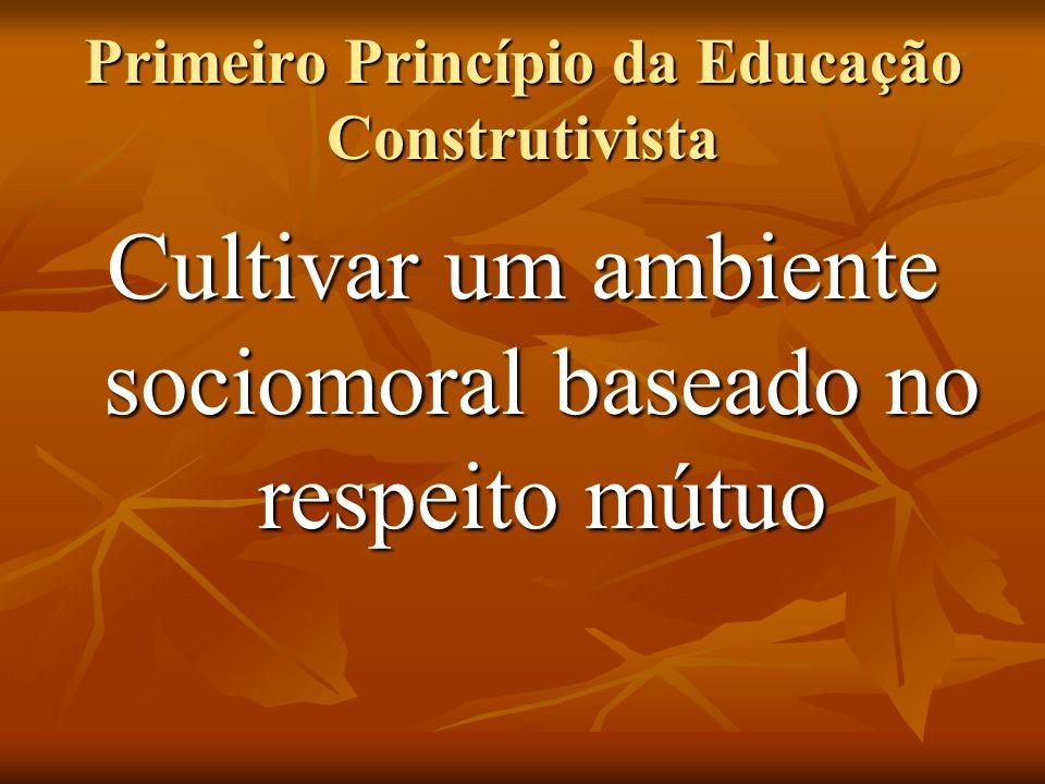 Primeiro Princípio da Educação Construtivista