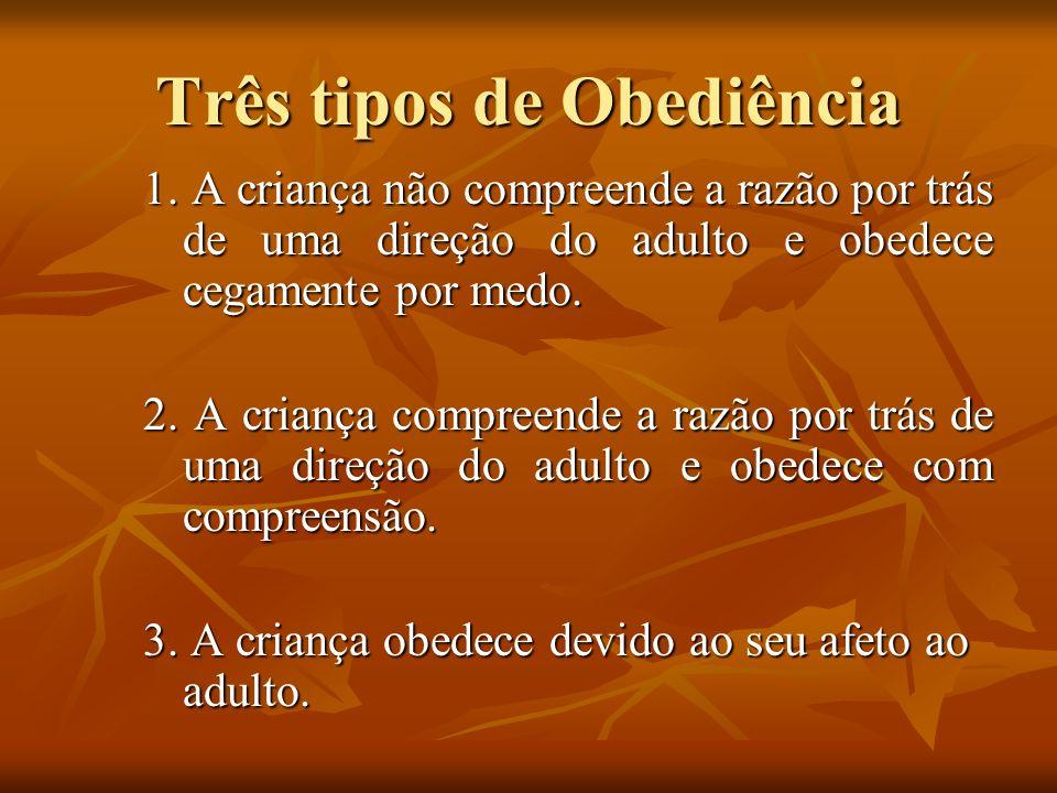 Três tipos de Obediência