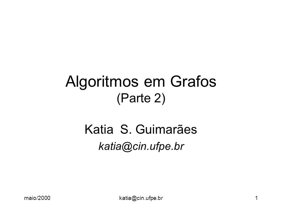 Algoritmos em Grafos (Parte 2)