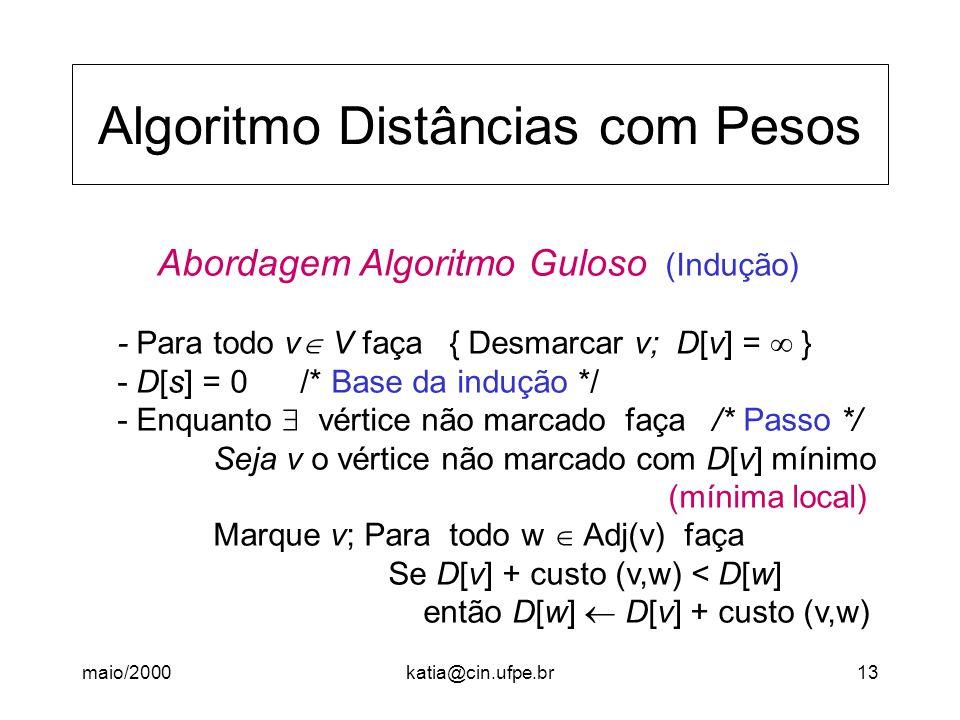 Algoritmo Distâncias com Pesos