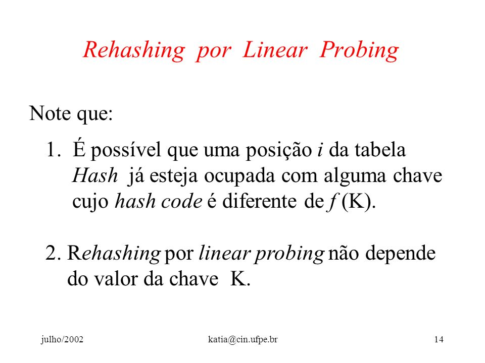 Rehashing por Linear Probing