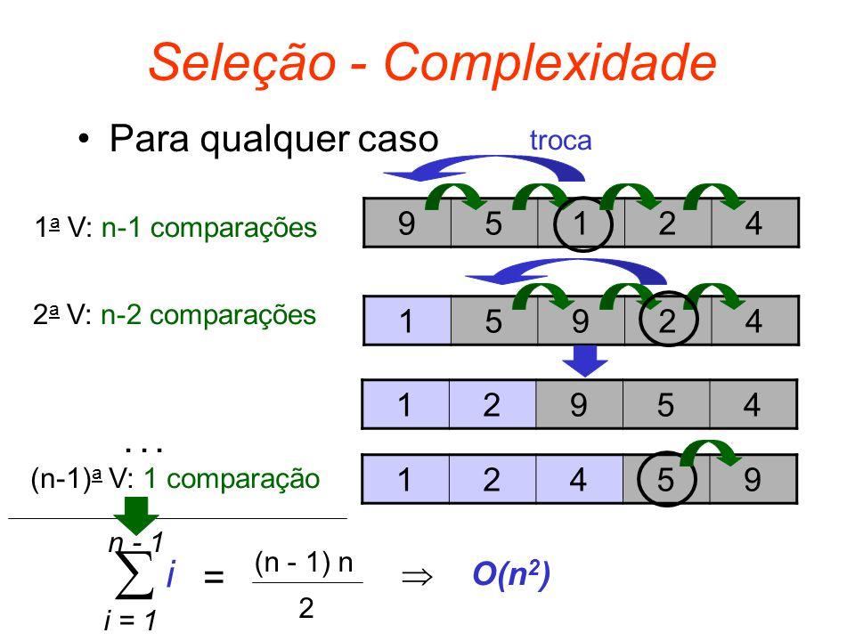 Seleção - Complexidade