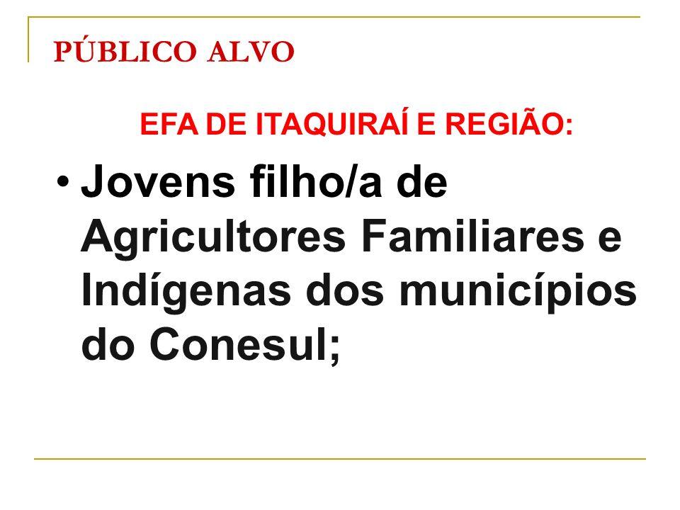 EFA DE ITAQUIRAÍ E REGIÃO: