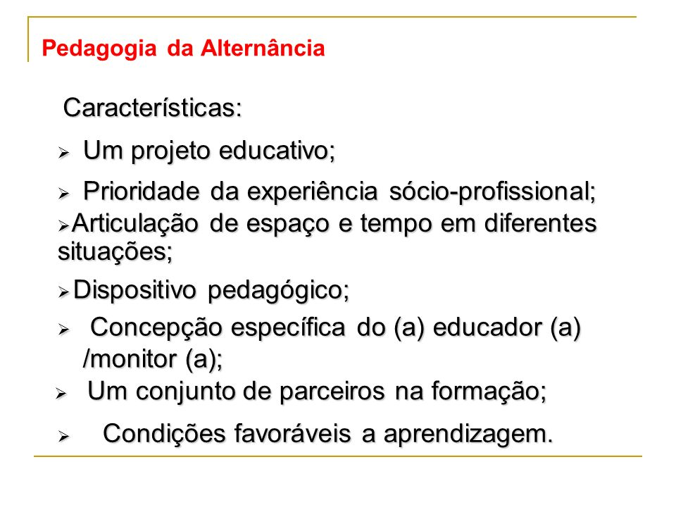 Pedagogia da Alternância
