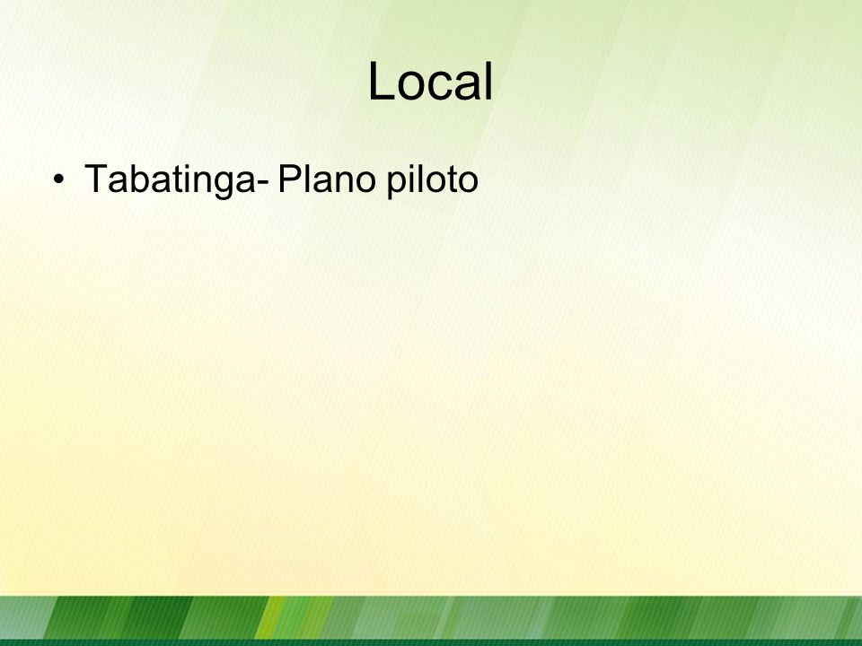 Local Tabatinga- Plano piloto