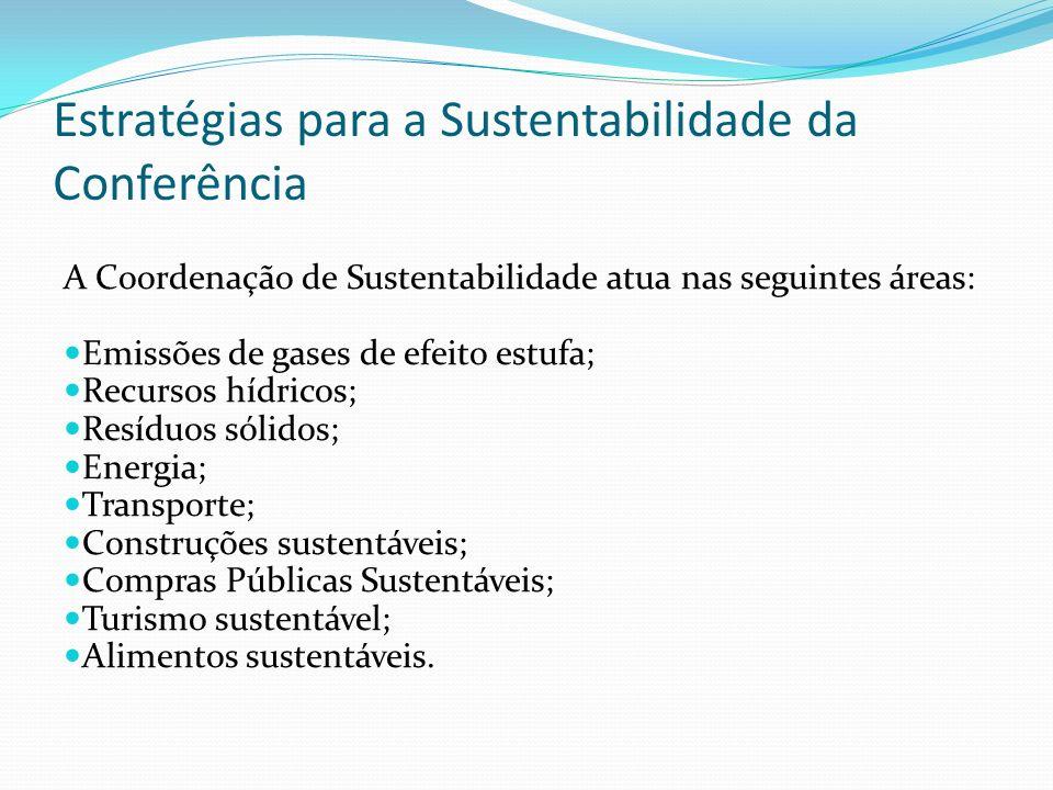 Estratégias para a Sustentabilidade da Conferência