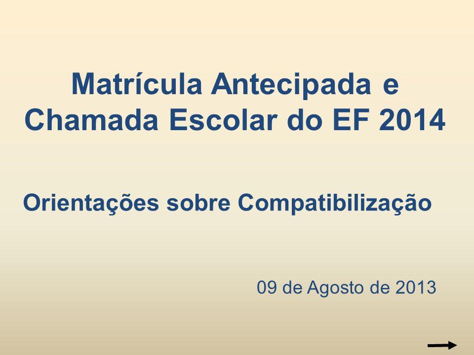 Matrícula Antecipada e Chamada Escolar do EF 2014