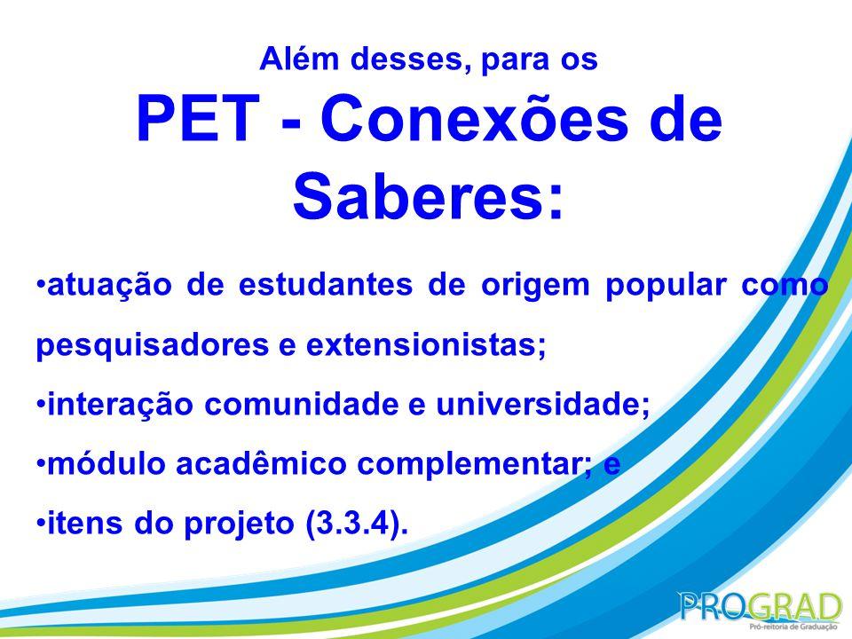 PET - Conexões de Saberes: