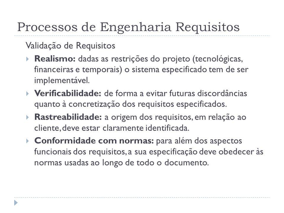 Processos de Engenharia Requisitos