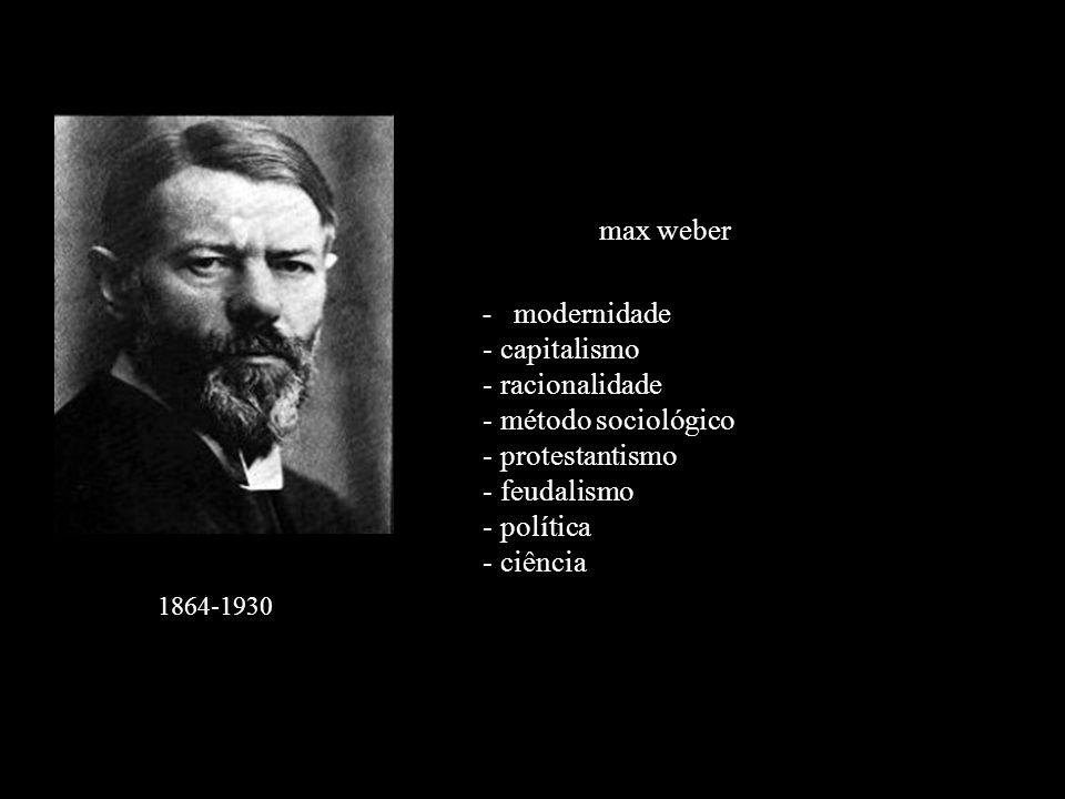 max weber capitalismo racionalidade método sociológico protestantismo