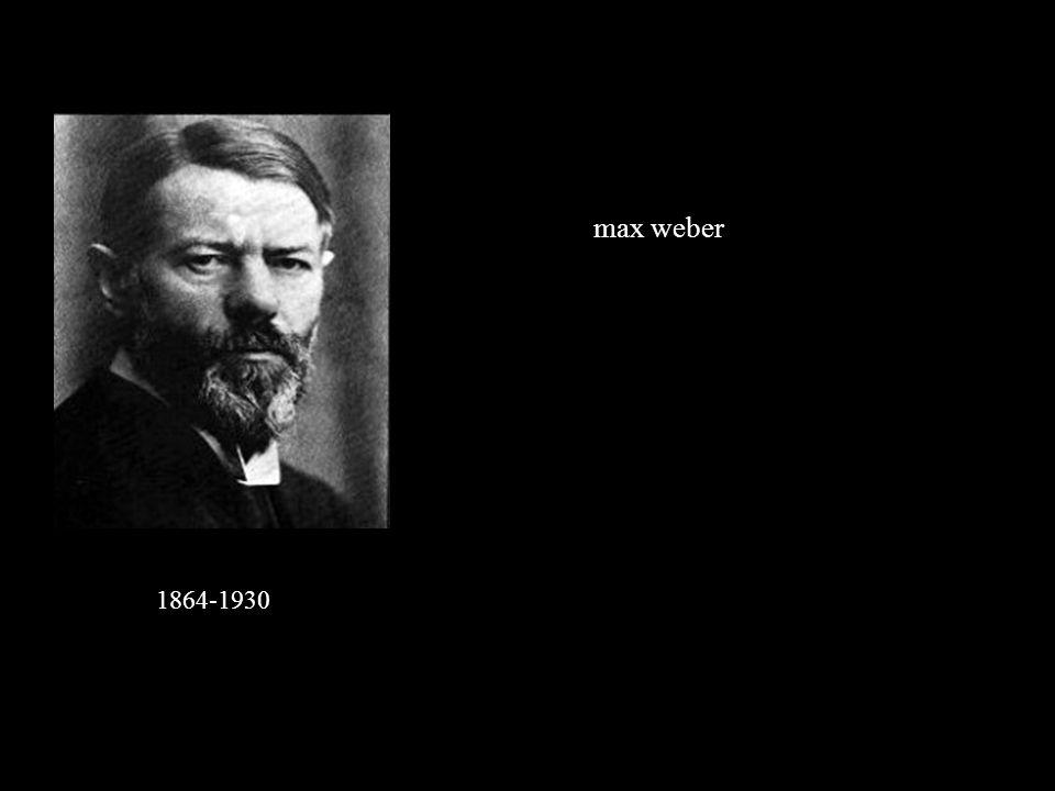 max weber 1864-1930