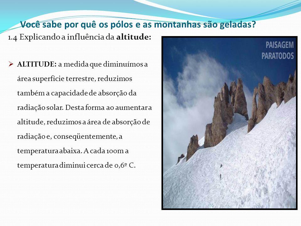 Você sabe por quê os pólos e as montanhas são geladas