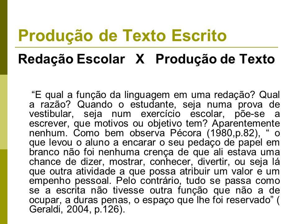 Produção de Texto Escrito